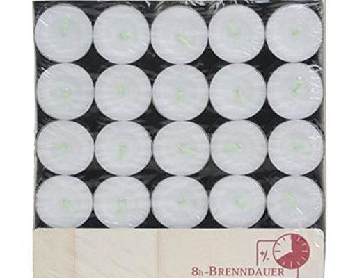 teelichter 100er beutel 8 stunden brenndauer schonheitsprodukte. Black Bedroom Furniture Sets. Home Design Ideas