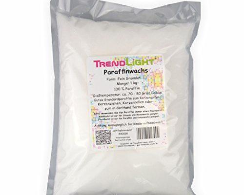 trendlight 890018 paraffin 1 kg kerzenwachs rein weiss zum kerzen herstellen schonheitsprodukte. Black Bedroom Furniture Sets. Home Design Ideas