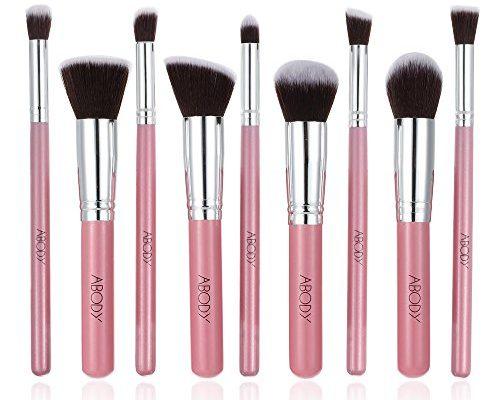 abody 9st make up pinsel set augenschminke b rsten professionelles kosmetik werkzeug rosa. Black Bedroom Furniture Sets. Home Design Ideas