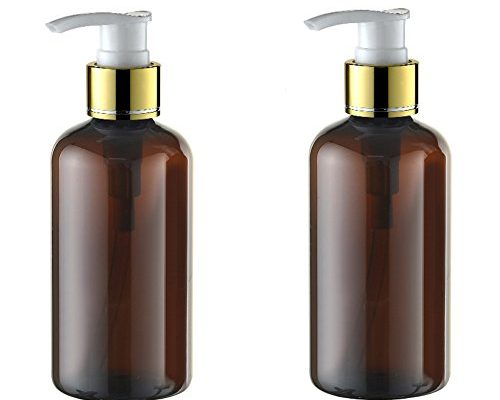 2pcs 220 ml nachf llbar leer kunststoff braun creme lotion spender spray pumpe flasche. Black Bedroom Furniture Sets. Home Design Ideas