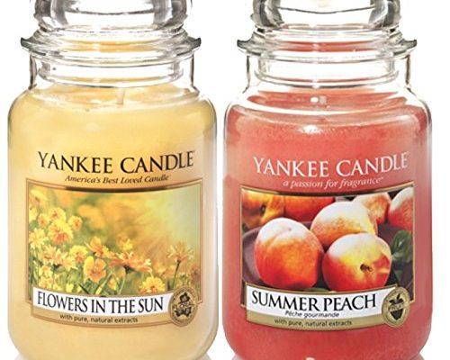 offizielles yankee candle set 2 classic signature gro gl ser blumen in der sonne summer. Black Bedroom Furniture Sets. Home Design Ideas