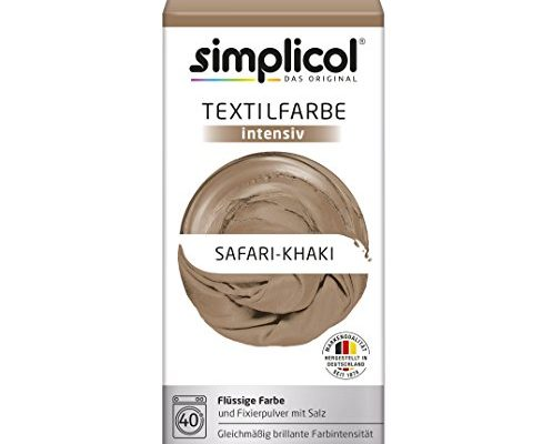 simplicol textilfarbe intensiv 18 farben safari khaki 1815 einfaches textilf rben in der. Black Bedroom Furniture Sets. Home Design Ideas