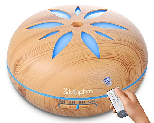 aroma diffuser miuphro 550ml luftbefeuchter aroma l diffusor leise humidifier raumbefeuchter. Black Bedroom Furniture Sets. Home Design Ideas