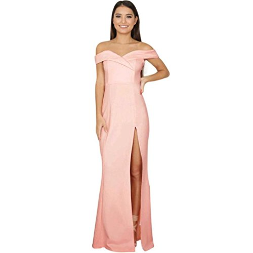 8fee28c01222ac Damen Rückenfrei Cocktail Kleid Rosennie Frauen Sommer Reizvolle ...