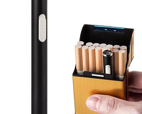 LUWANZ Elektro Feuerzeug USB elektrisches Feuerzeug aus Metall ...
